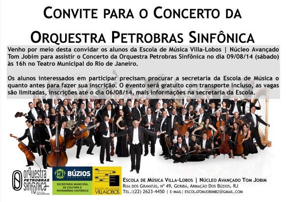 Convite Orquestra Petrobras Sinfônica