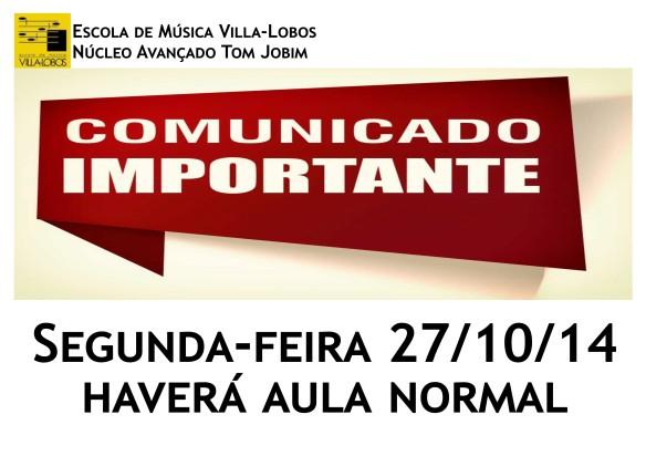 Comunicado 27_10 - Aula Normal