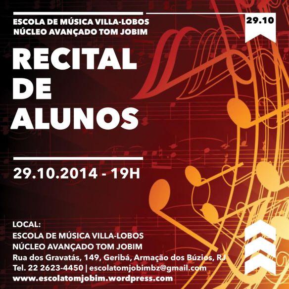 Folder Recital de Alunos 29_10_14