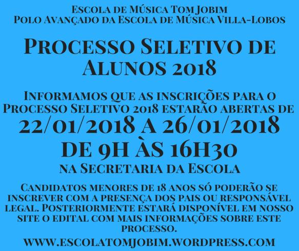 Folder - Processo Seletivo 2018