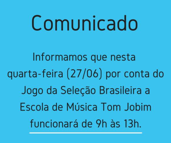 Comunicado - Copa