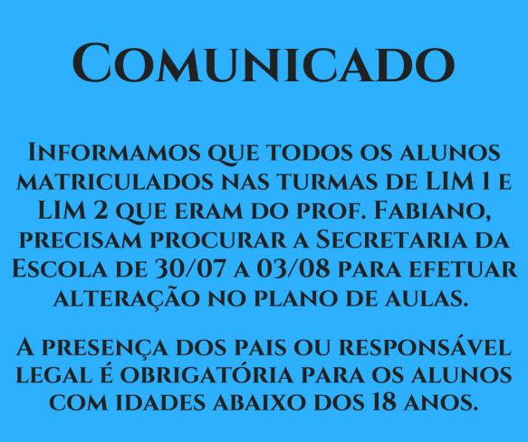 Comunicado - LIM