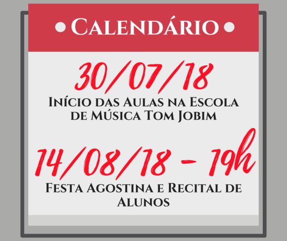 EMTJ - Calendário 2018.2