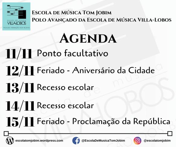 Agenda - Feriados
