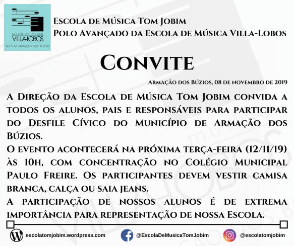 Convite - Desfile Cívico